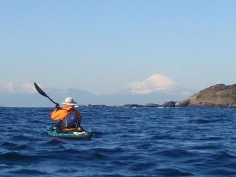 富士山とカヤック